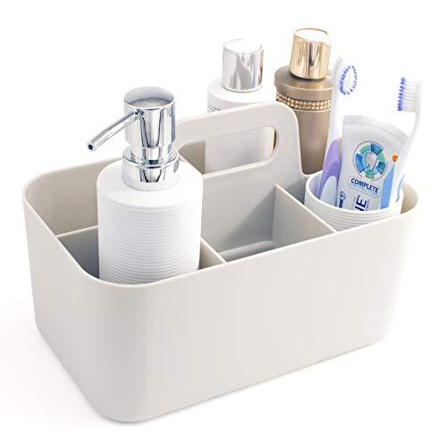 Lib Portable Plastic Organizer | Shower Caddy | Bath Organizer | Cosmetic Tote | Cleaning Supplies Bin | Bathroom, Office, Dorm, Kitchen, College, Kid's Room | Multifunctional Organizer